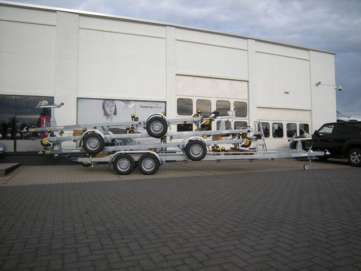 Nieuwe lading trailers bij Beekman Watersport